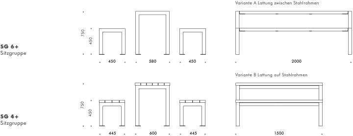 Tresenhöhe und sitzgruppe mensa bänke sitzgruppen liegen gartenmöbel