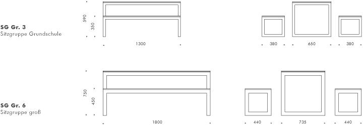 Tresenhöhe pia bänke sitzgruppen liegen gartenmöbel freiraum