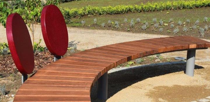 gartenmobel sitzbank mit lehne, bank arcus e - bänke, sitzgruppen & liegen: gartenmöbel - freiraum, Design ideen