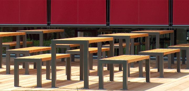 und sitzgruppe mensa - bänke, sitzgruppen & liegen: gartenmöbel, Gartenmöbel