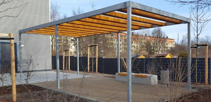 Pergolen Aus Stahl Und Holz Freiraumobjekte Ney